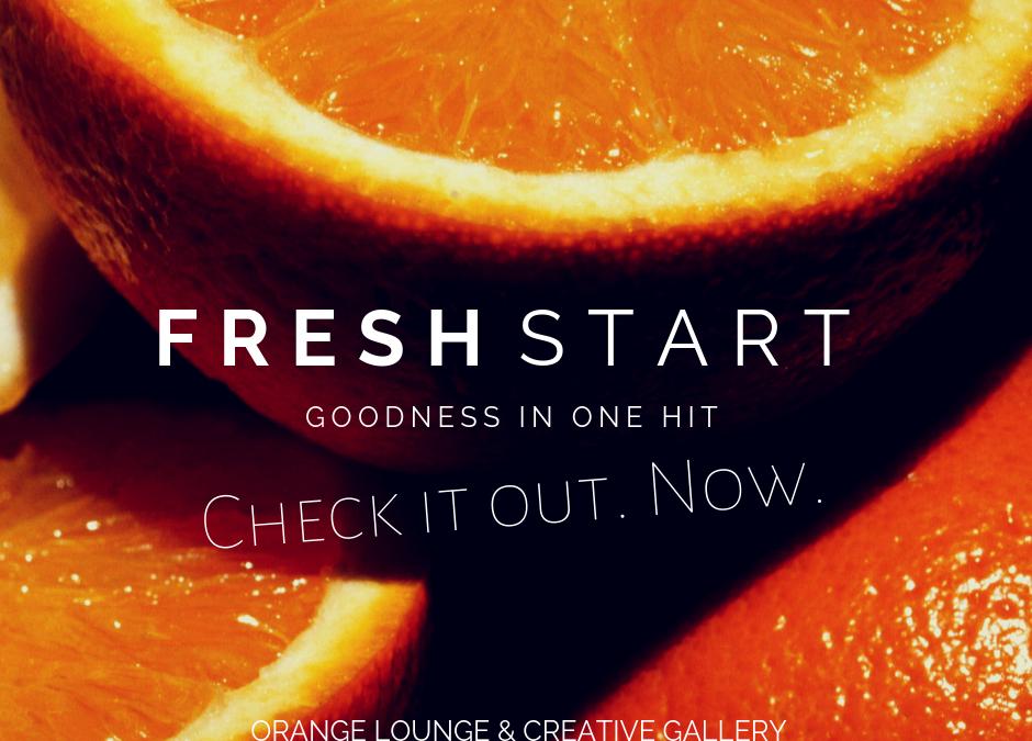 Fresh Start: The orange Lounge.